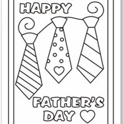 Free coloring pages for father's day, and tons of other ideas