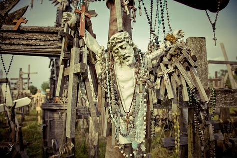 Hill of Crosses    Picture was taken on the Hill of Crosses, near the city of Šiauliai, in northern Lithuania, by Dmitri Korobtsov.