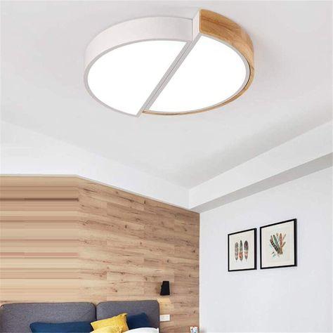 Mtx Ltd Lampe De Chambre Nordique Blanche Ronde En Fer Forge
