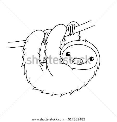 Image Result For Cute Black And White Sloth Clip Art Elephant Outline Clip Art Sloth