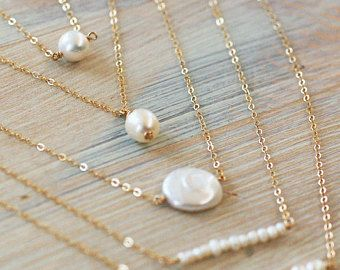 Simple Necklace June birthstone necklace daily wear Pearl necklace simple pendant simple jewelry pearl dainty necklace,Pearl Necklace