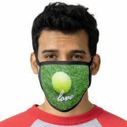 Tennis Love All Over Print Face Mask Zazzle Com In 2020 60th Birthday Gifts Birthday Gift Ideas 60th Birthday