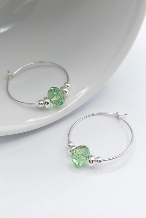 Looking for handmade sterling silver crystal earrings to make that perfect jewellery gift for yourself or that special someone? Find just what you are looking for at Emily Grace Designs. A wide selection of beautiful handmade earrings made in sterling silver and embellished with Swarovski® crystals. Shop now to find the perfect treat or gift. #handmadegift #swarovskiearrings #crystalearrings #sterlingsilver