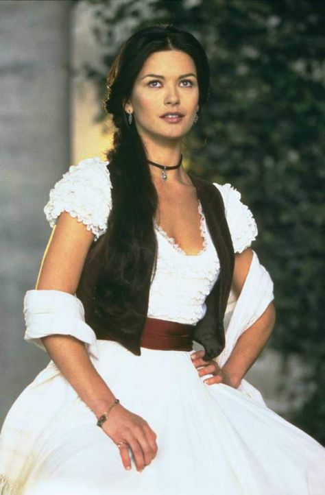Zeta Jones rapidly abandoned her music career and went on to land her breakthrough film role playing Elena opposite Anthony Hopkins and Antonio Banderas in The Mask Of Zorro. Description from allmusic.com. I searched for this on bing.com/images