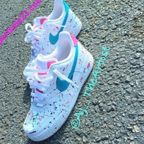 Pastel Nike Air Force 1 UK 5 pastel colours ( Depop
