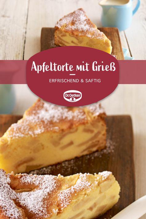 Apfeltorte mit Grieß: Ein saftiger Apfelkuchen mit Quark zum Geburtstag oder anderen Festen #apfelkuchen #quarkkuchen #kaffeetafel