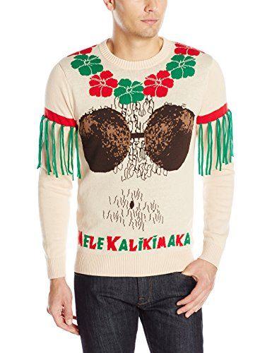 Alex Stevens Men's Mele Kalikimaka Ugly Christmas Sweater | Top Gift Guides