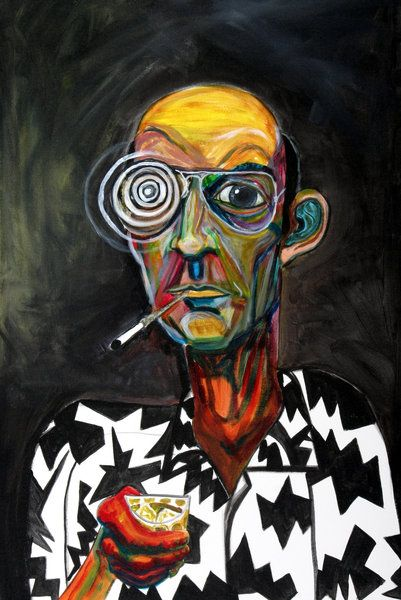 mtzeilman - Fear and Loathing in Las Vegas -buy the ticket take the ride Urbane Kunst, Psy Art, Hippie Art, Weird Art, Art Pop, Sketch Art, Outsider Art, Psychedelic Art, Aesthetic Art