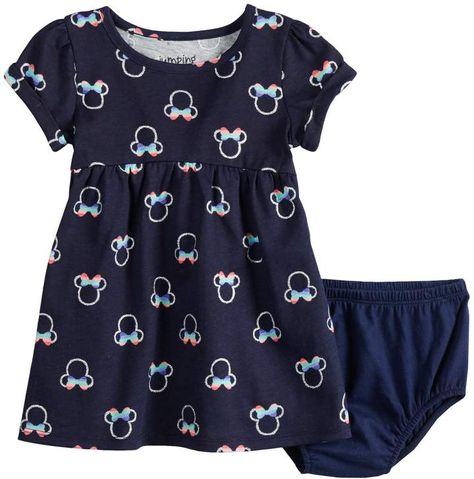 18b75ae7 Disneyjumping Beans Disney's Minnie Mouse Baby Girl Glittery Print Babydoll  Dress by Jumping Beans
