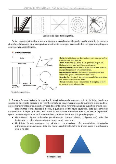 Apostila De Artes Visuais Revisada E Ampliada 2014 Com Imagens