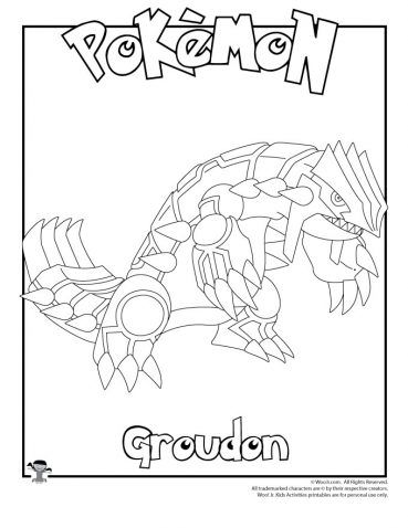 Groudon Coloring Page Coloring Pages Pokemon Coloring Pokemon