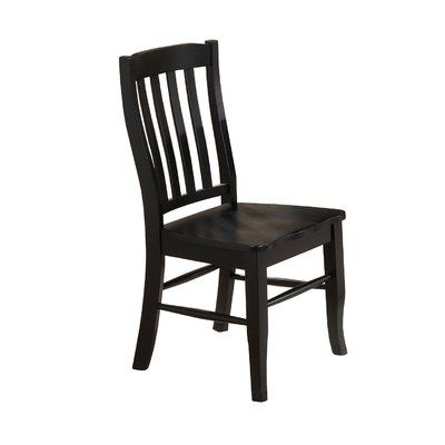 Three Posts Courtdale Solid Wood Dining Chair Set Of 2 Finish