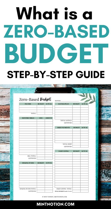 What is a zero-based budget