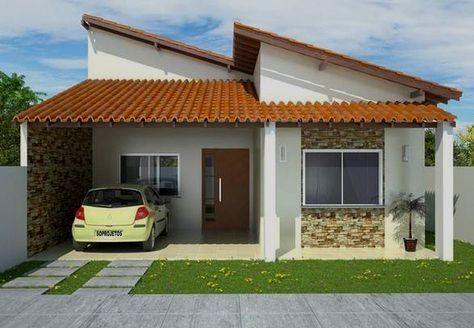 Busca Las Mejores Fachadas Sencillas Y Habla De Ellas Por Todo El Mundo Modernas Arquitectura C Beautiful House Plans House Designs Exterior Exterior Brick