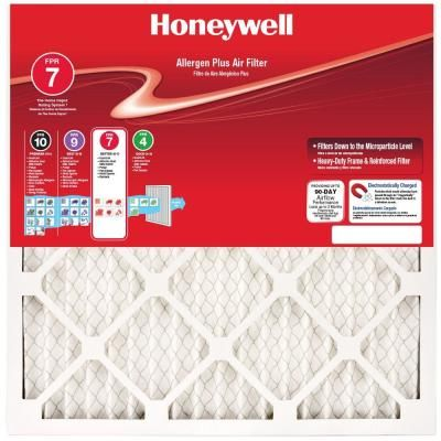 Honeywell 19 5 In X 23 In X 1 In Allergen Plus Pleated Fpr 7 Air Filter Air Filter Furnace Filters Honeywell