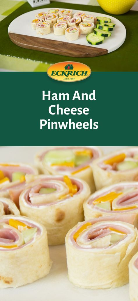 Need an easy appetizer or snack? Our Ham and Cheese Pinwheels are a party favorite – and a quick finger food for hungry kids! #recipe #ham #cheese #appetizer #summer #fingerfoods #partyplatter