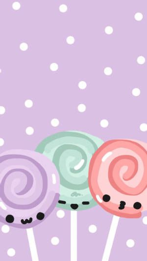 Download Cute Lollipop Faces Wallpaper Wallpapers Com In 2021 Cute Wallpaper For Phone Cute Pastel Background Cute Pastel Wallpaper Full hd cute lollipop wallpaper