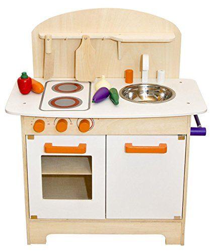 Weisse Kinderkuche Spielkuche Holzkuche Kinderspielkuche