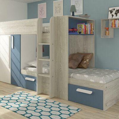 Harriet Bee Aidan European Single High Sleeper Bed With Drawers In