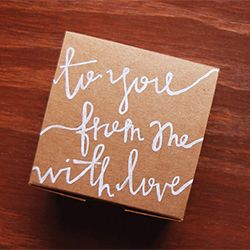 Pretty gift wrap ideas using hand lettering.