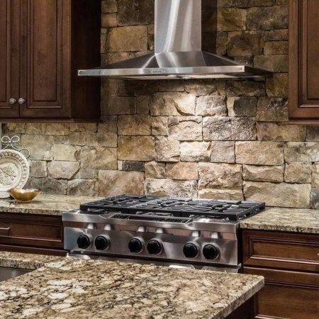 29 Cool Cheap Diy Kitchen Backsplash Ideas 3 With Images Stone Backsplash Kitchen Diy Kitchen Backsplash Kitchen Backsplash