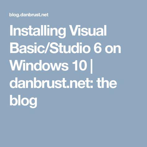 visual basic 6 windows 10