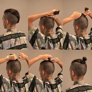 Mens Long Top Knot Ideas Para El Cabello Pinterest Top - Mens hairstyle top knot