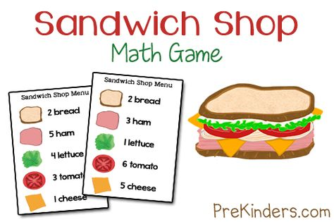 "Counting Game, ""Sandwich Shop"" (from PreKinders)"