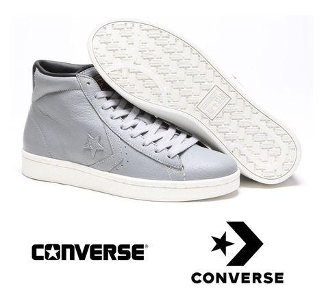 converse pro leather argento