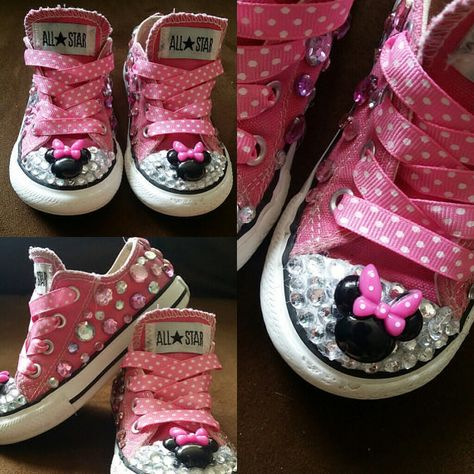 Pink Minnie Mouse Converse by TuTuCutee on Etsy   Zapatos