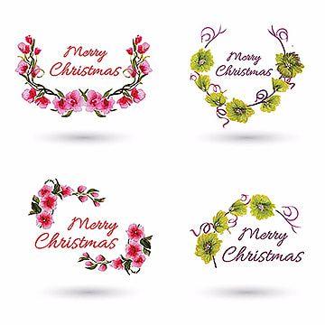 تصاميم شعار عيد الميلاد المائية Logo Design Free Templates Christmas Watercolor Logo Design Free