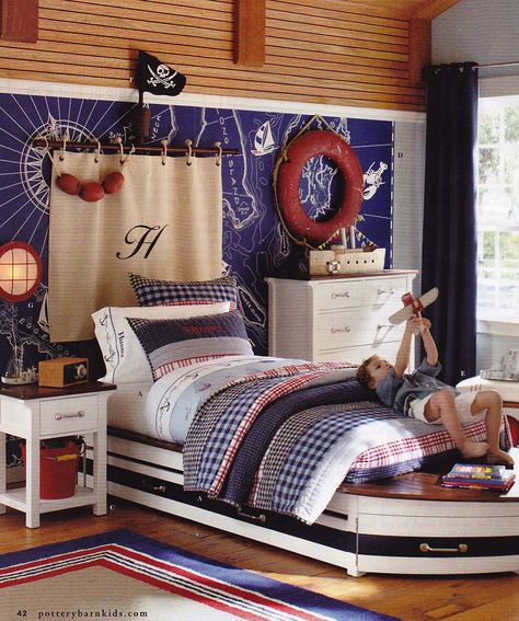 Sail Away From Pottery Barn Boys Nautical Bedroom Pirate Bedroom Bedroom Themes