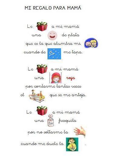Poemas Canciones Para El Dia De La Madre Para Niños Poema Regalo Para Mama Regalo Dia De La Madre Para Imprimir Y