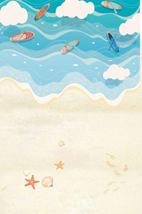 صيف بارد أدبي جديد Beach Illustration Art Wallpaper Summer Illustration