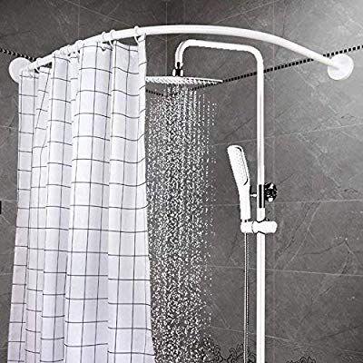 Amazon Com Yoloplus Curved Shower Rod Wall Mount Curved Bathroom