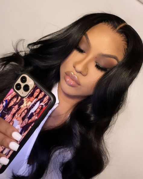 how to put makeup Smoke Eye Makeup, Sultry Makeup, Natural Glam Makeup, Glamour Makeup, Natural Cosmetics, Baddie Hairstyles, Black Girls Hairstyles, Weave Hairstyles, Hair Inspo