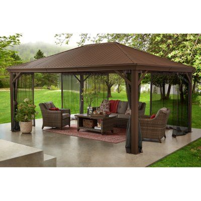 Member S Mark 12 X 16 Alameda Hardtop Gazebo Pavilion Sam S Club In 2020 Hardtop Gazebo Backyard Gazebo Gazebo