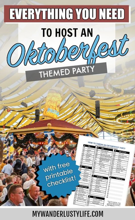 Octoberfest Party, Oktoberfest Food, Oktoberfest Decorations, Ballerina Party, Beer Festival, Party Activities, For Your Party, Thanksgiving, Ale