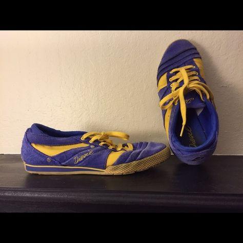 Diesel women's sneakers Dark blue/ purple and yellow Diesel Shoes Sneakers