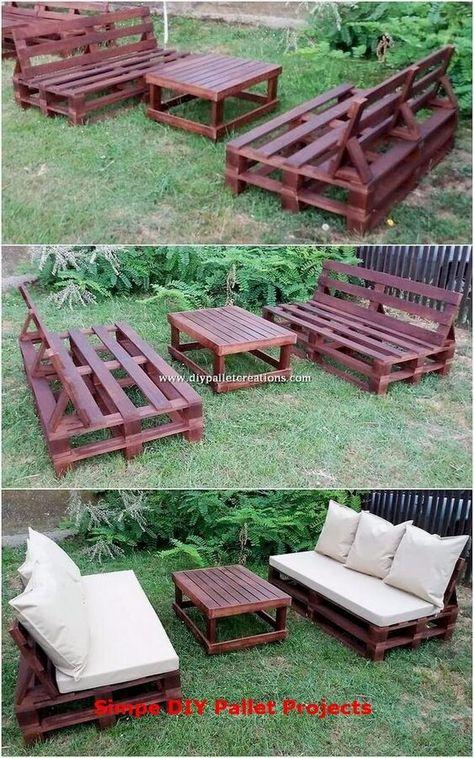 Pallet Garden Furniture, Diy Outdoor Furniture, Furniture Legs, Barbie Furniture, Garden Pallet, Pallet House, Furniture Dolly, Skid Furniture, Furniture Movers