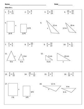 Similar Polygons Warm Ups Or Worksheet