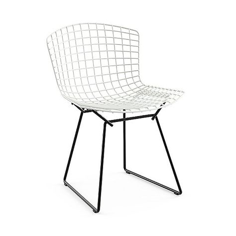 Knoll Bertoia Two Tone Side Chair 420ct K W C Knoll Authorized Retailer Side Chairs Colored Dining Chairs Black Kitchen Chairs