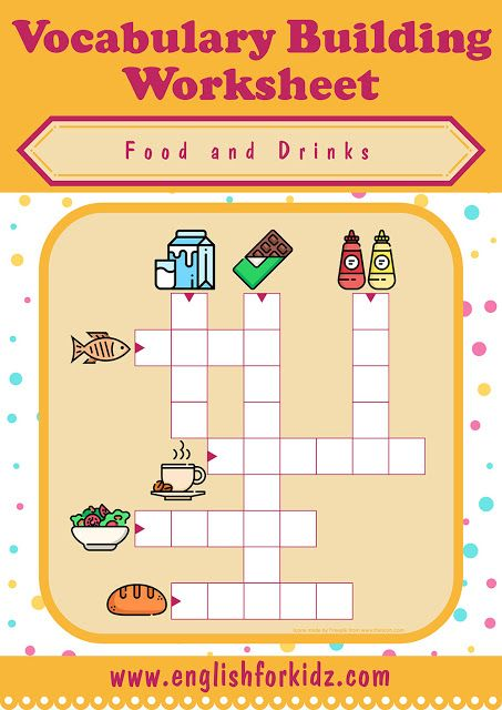 Food And Drinks Crossword Puzzles Crossword Crossword Puzzles Food Vocabulary