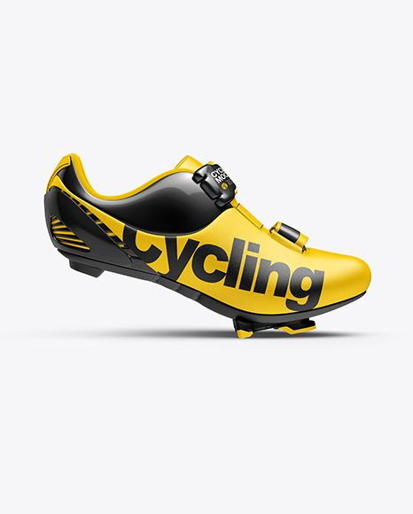 Download Cycling Shoe Mockup Side View In Apparel Mockups On Yellow Images Object Mockups Cycling Shoes Design Mockup Free Road Cycling Shoes