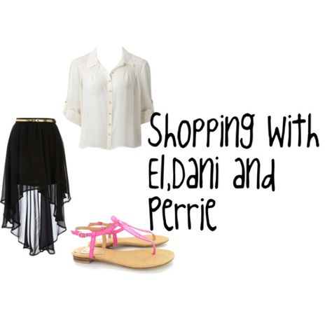 Shopping with Danielle perrie and Eleanor :)