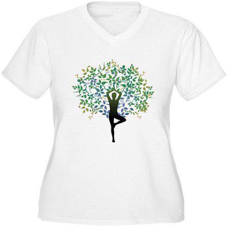 5da8efe715 Women s Plus Size Yoga Tree Pose Graphic T-shirt
