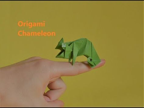 Origami Chameleon - YouTube