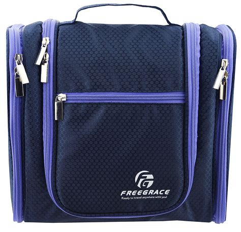 Premium Toiletry Bag By Freegrace - Extra Large Travel Essentials ... 7f1ea3a549ea5