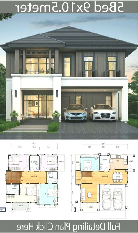 House Design Plan 9x10 5m With 5 Bedrooms In 2020 Home Design Plans Home Design Plan House Design