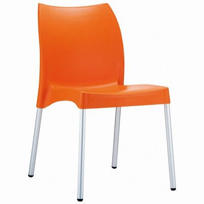 Ebern Designs Goguen Stacking Patio Dining Chair Resin Patio